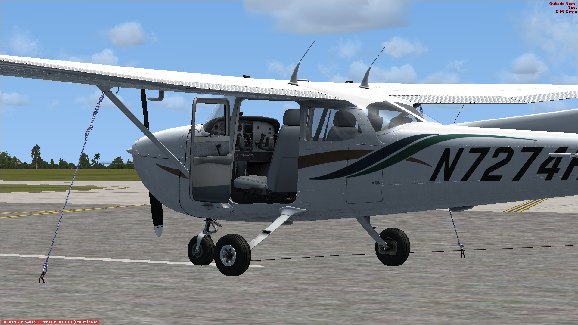 Flying the a2a simulations cessna 172 in fsx at 13,500 feet by.